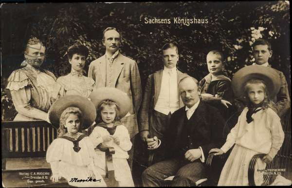 Frederick August III, King of Saxony, family
