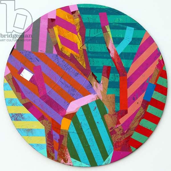 Twixt Heaven & Earth XI-A (acrylic on circular board)