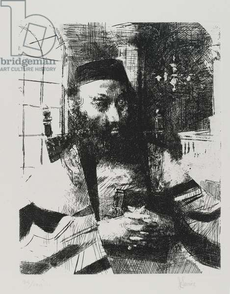Ashkenazi, printed by Emiliano Sorini, New York, published by A. Lublin, Inc., 1963 (etching on BFK Rives paper)