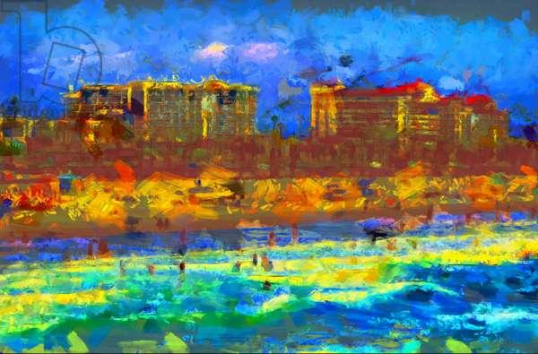 Beach,2020,(mixed media)