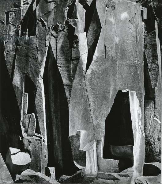 Rock Wall, Westgard Pass, California, 1971 (silver gelatin print)