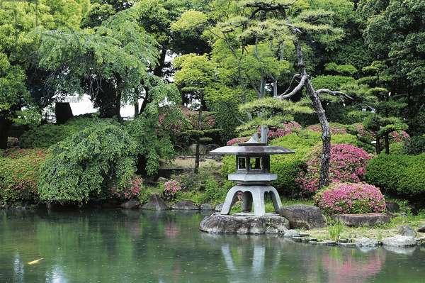 Garden in Osaka castle, Kansai, Japan