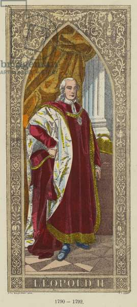 Leopold II, 1790-1792 (coloured engraving)