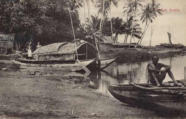 Ceylon Boats (b/w photo)