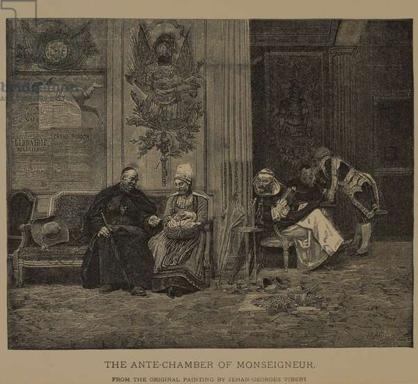 The Ante-Chamber of Monseigneur, The Masterpieces of French Art by Louis Viardot, Published by Gravure Goupil et Cie, Paris, 1882, Gebbie & Co., Philadelphia, 1883 (woodcut engraving)