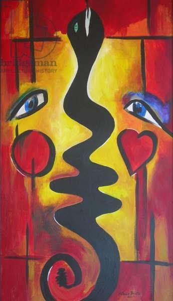 Adam and Eve, 2006 (Acrylic on masonite)