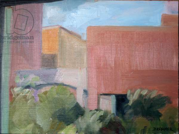 High Line, Late day, 2012 ( oil on panel)