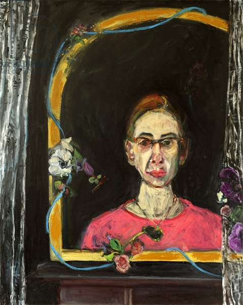Self Portrait- Timeline, 2015, (acrylic and oil on canvas)