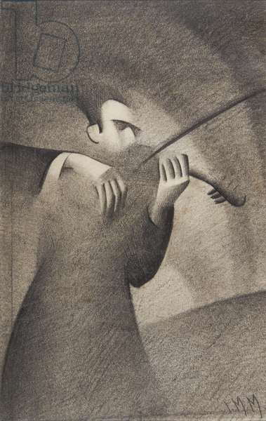 Violinist, 1932 (pencil on paper)