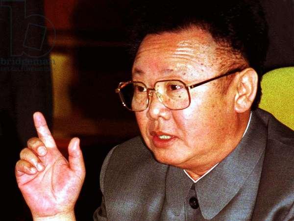 Korea: North Korean leader Kim Jong Il, Pyongyang, 2000