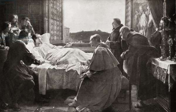 The death of Rafael, from Hutchinson's History of the Nations, pub.1915
