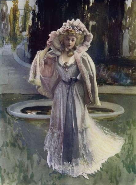 Madame Rejane in Sylvie (colour photo)