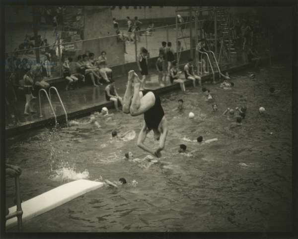 The Diver, Cascades Pool, 169th Street and Jerome Avenue, The Bronx, USA, c.1920-38 (gelatin silver photo)