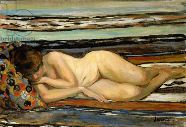 Nude Woman Sleeping; Nu Allonge,  (oil on canvas)