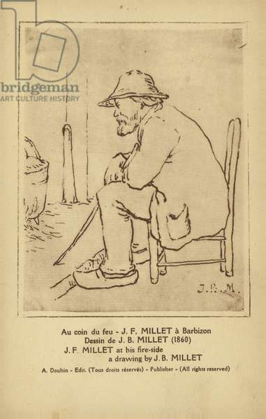 Jean-Francois Millet, French painter (litho)