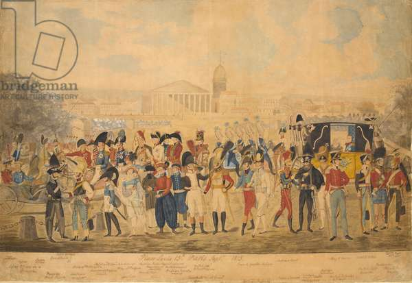Place Louis XV, Paris, September 1815 (w/c on paper)