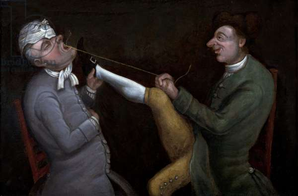 The Dentist, c.1770 (oil on panel)