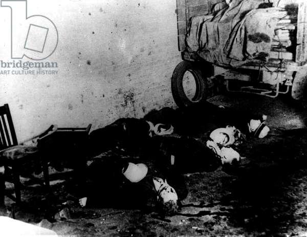 St. Valentine's Day Massacre, Chicago, February 14, 1929,
