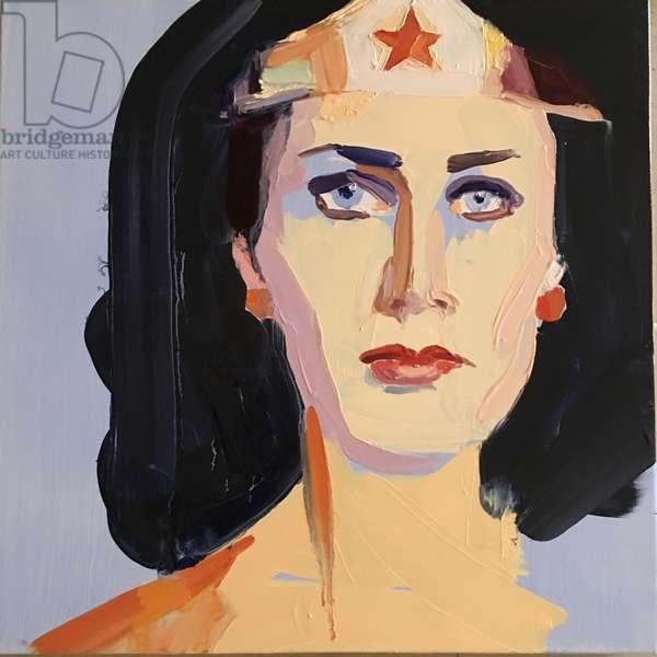 Wonder woman, 2016, (oil on canvas)