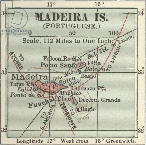 Map of Madeira Island