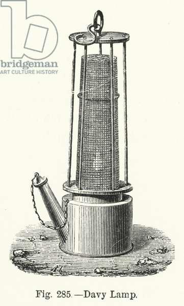 Davy Lamp (engraving)