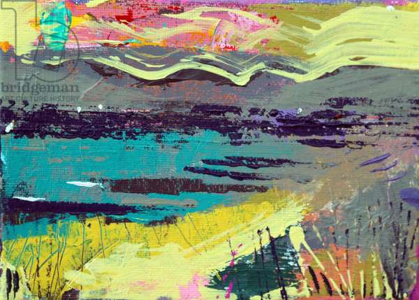 Out to sea, Iona (acrylic on canvas)