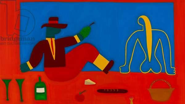 The picnic, 1998, (oil on linen)