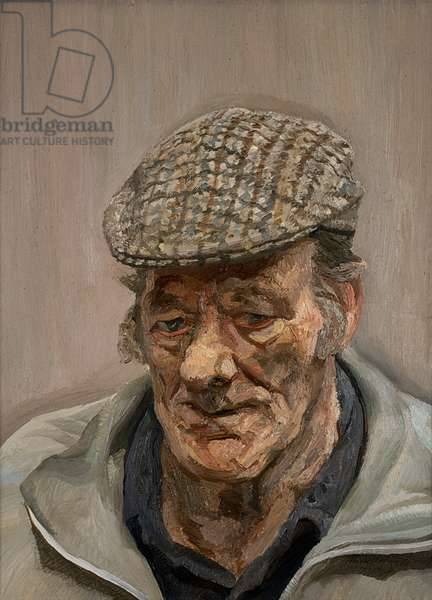 Man in a Check Cap, 1991 (oil on canvas)