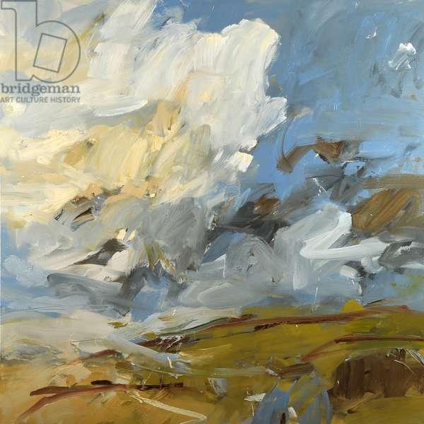 Turf Underfoot, Huge Sky (oil on canvas)