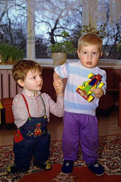 Children born after a disaster on the Chernobyl Nuclear Power Plant at a specialised children's home No. 1 opened in February 1989. Belarus, 1993 (photo)
