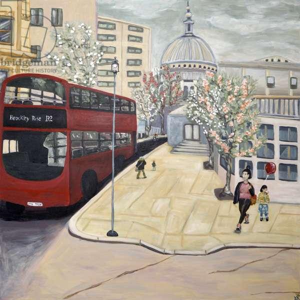 Londontown, 2017, (acrylic on canvas)