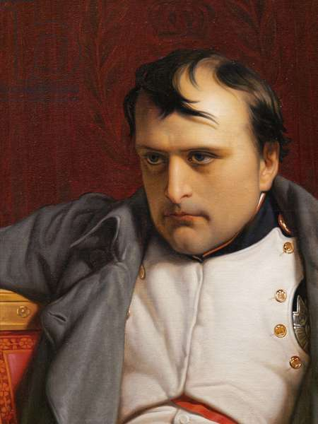 Napoleon I at Fontainebleau, 31st March 1814, detail of the face, 1840 (oil on canvas)