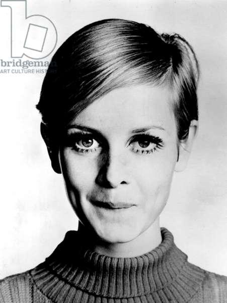 The Model Twiggy, 1966 (b/w photo)