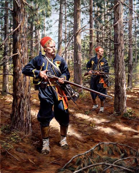 Union Army, 155th Pennsylvania Volunteers 1864, 1999 (oil on canvas)