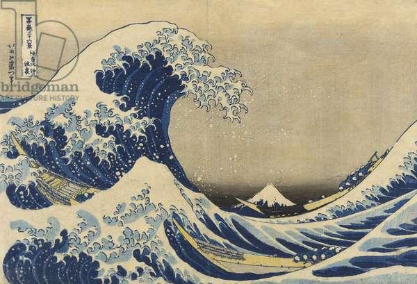 The Great Wave off Kanagawa (Kanagawa oki nami ura), from the series Thirty-six Views of Mount Fuji (Fugaku sanjurokkei), c.1830-33 (colour woodblock print)