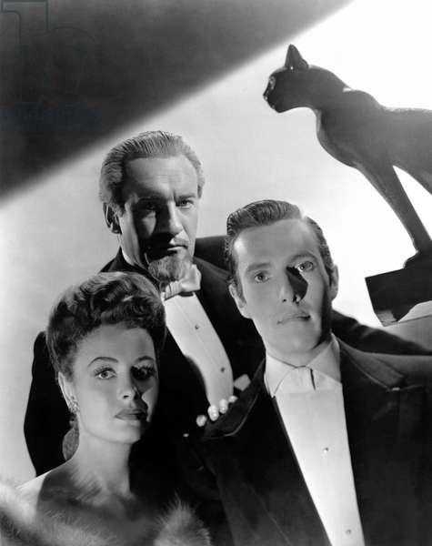 Donna Reed, George Sanders And Hurd Hatfield.