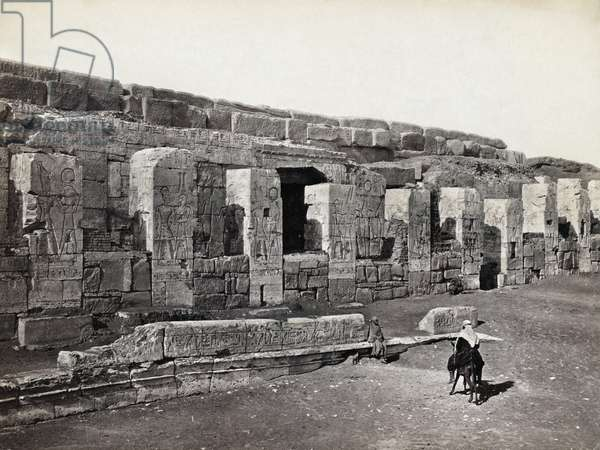 EGYPT: ABYDOS TEMPLE Ruins of a temple at Abydos, Egypt. Photograph by Francis Frith, c.1860.
