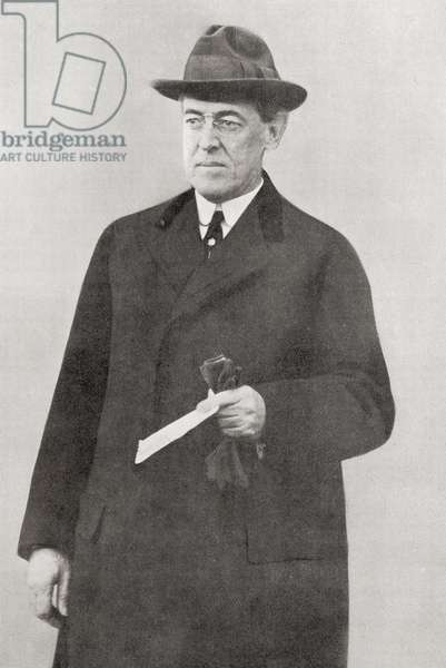 Thomas Woodrow Wilson, 28th President of the United States, from The Year 1916 Illustrated