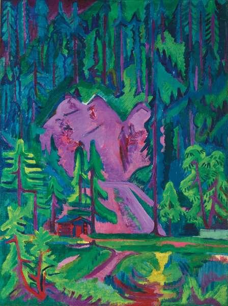 Quarry at Wildboden; Steinbruch bei Wildboden, c.1923 (oil on canvas)