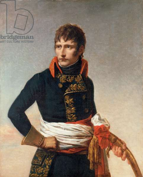 Portrait of Napoleon Bonaparte (1769-1821), as First Consul, three-quarter length, holding a sabre (oil on canvas)