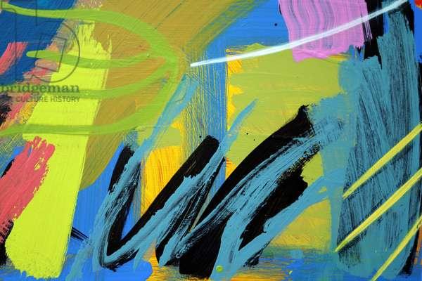 Abstract 61 (acrylic on board)