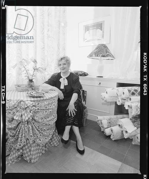 Celia Birtwell, 1988 (b/w photo)