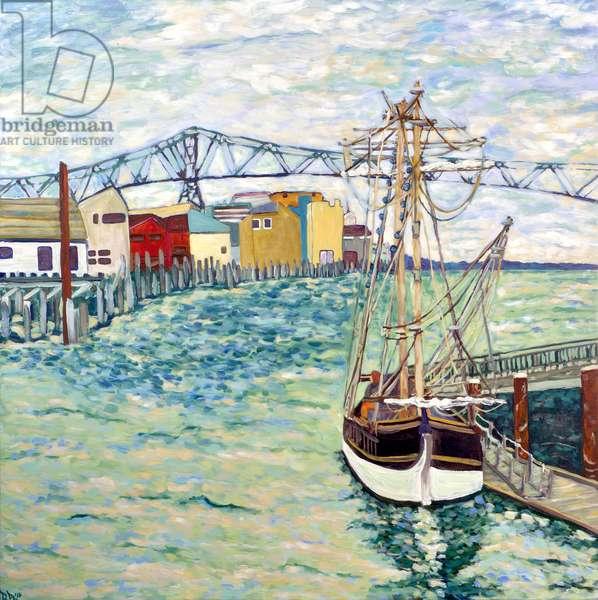 Astoria Boat, 2018 (acrylic on canvas)