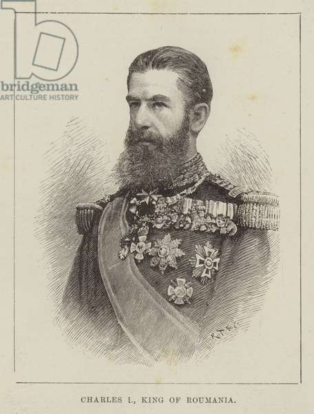 Charles I, King of Roumania (engraving)