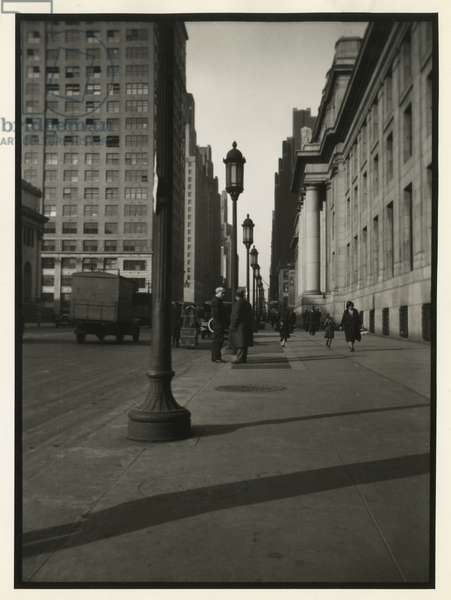 Penn Station, north on Eighth Avenue, New York, USA, c.1920-38 (gelatin silver photo)