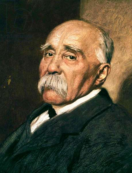 French prime minister Georges Clemenceau (1841-1929) c. 1920 (oil on canvas)