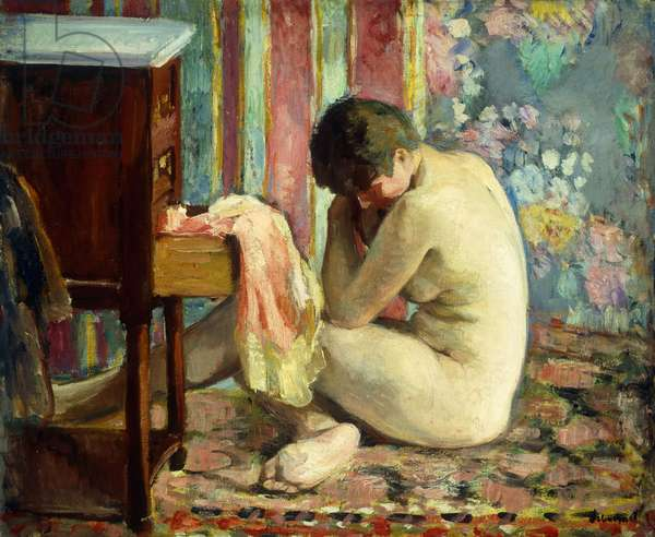 Nude with Pink Shirt; Nu a la Chemise Rose, 1926 (oil on canvas)