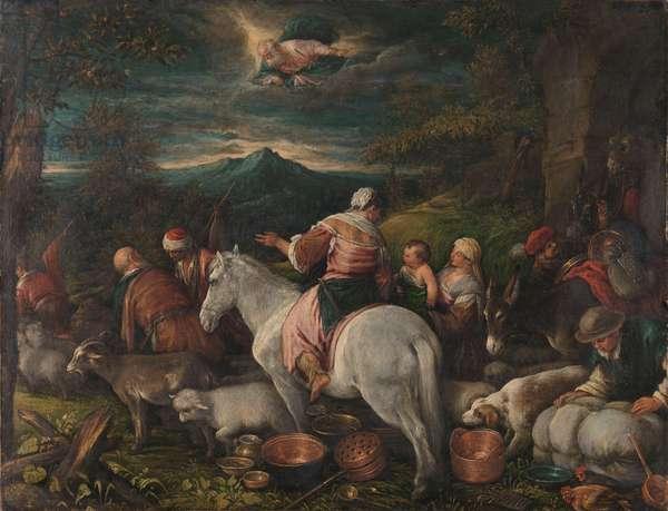 Abraham Leaves Haran, 1560-92 (oil on canvas)