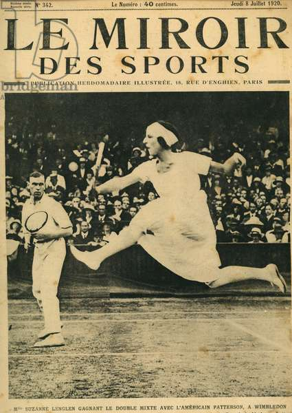 Suzanne lenglen wins double mixed with American Patterson a Wimbledon The Mirror of Sports July 1920