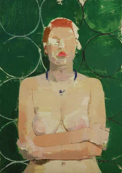 Blue Necklace, or Girl with Red Lips, c.1997 (oil on canvas)